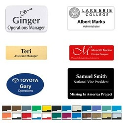 Engraved Name Badge - Fast - USA Made Tags - Free Shipping