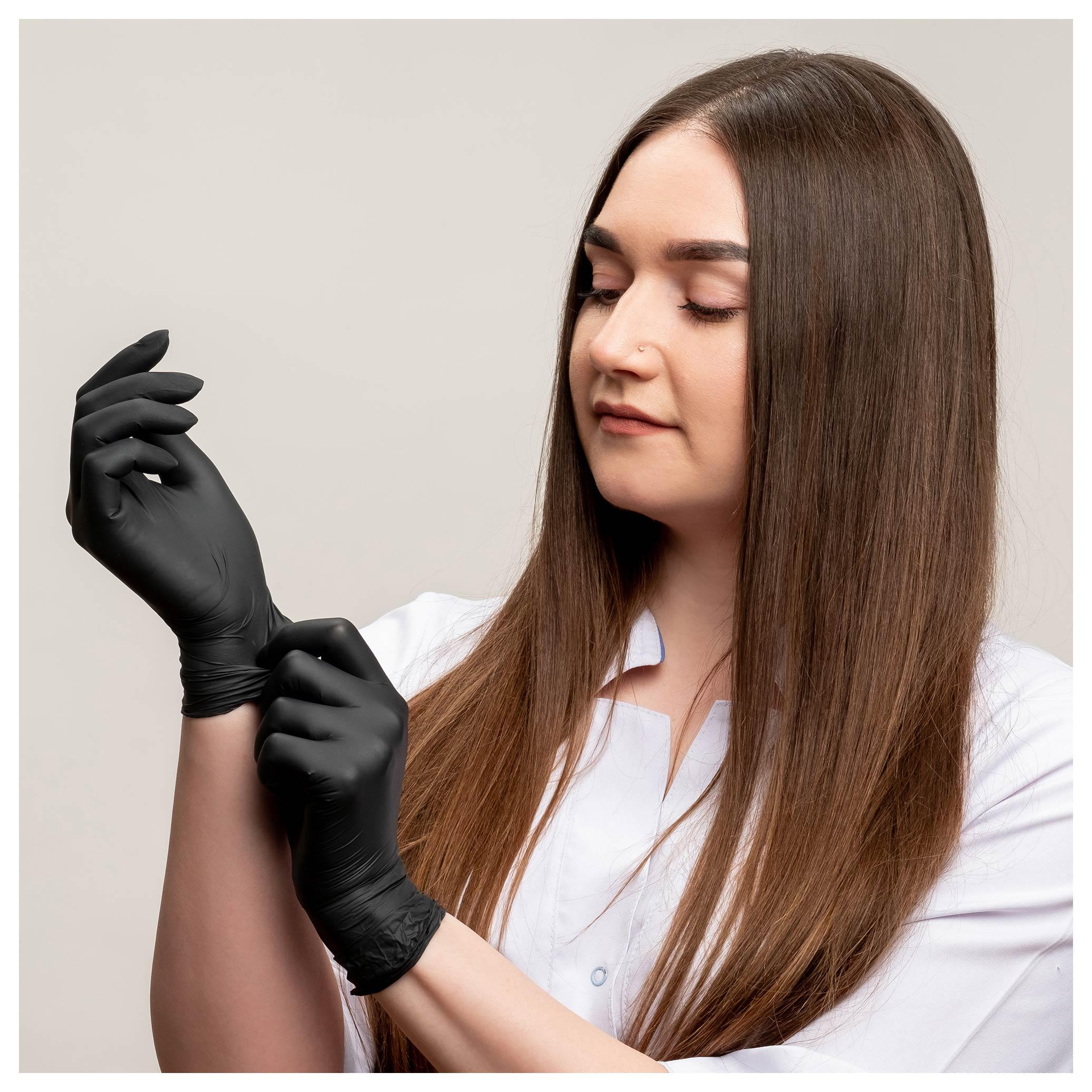 Black 510K Powder Free Nitrile Exam Gloves