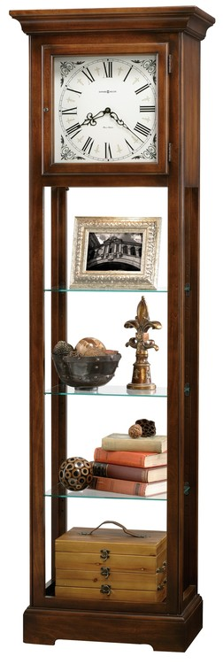 Howard Miller LeRose floor clock display cabinet