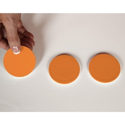 Orange Prize Drop Pucks (Set of 3) - Prize Drop Accessories
