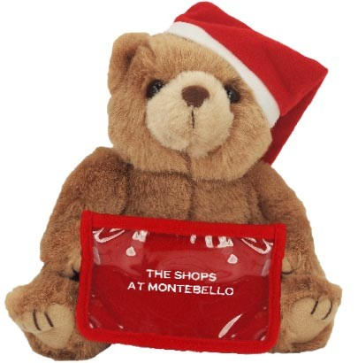 8 Santa Bear With Gift Card Holder And One Color Imprint S2212 Oc