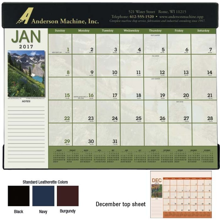 Desk Pad Calendars Custom Logo Imprint