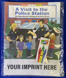 COLORING SET - A Visit to the Police Station Coloring Book Fun Pack - Coloring Book Fun Pack