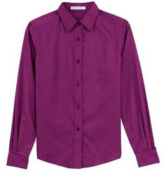 Ladies' Long Sleeve Oxford Button-Down Easy Care Shirts