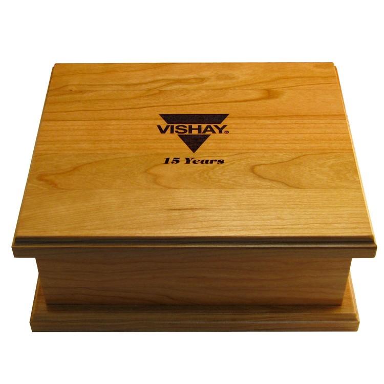 Wood Jewelry Box, 10.5 x 9 x 4.25