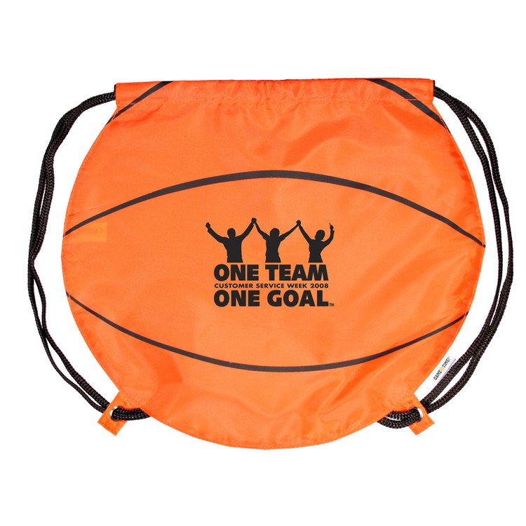 GameTime!(R) Basketball Drawstring Backpack