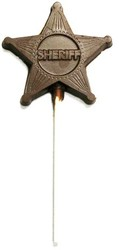 CHOCOLATE SHERIFF BADGE ON A STICK