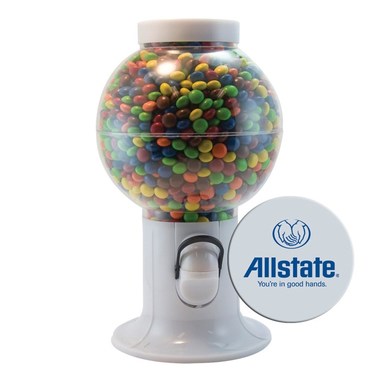 White Gumball Machine with Chocolate Littles