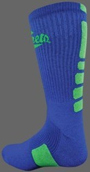 Deluxe CREW Basketball Socks -School Colors w MOISTURE WICKING