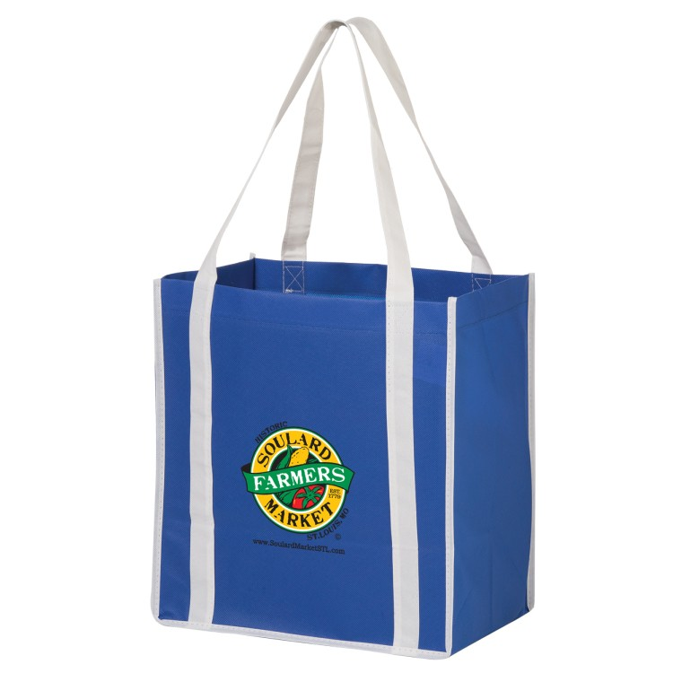 Non-woven Polypropylene Grocery Tote - Two Tone
