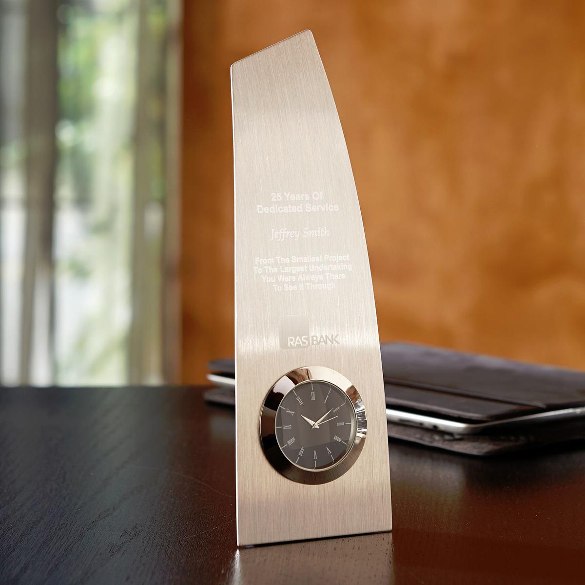 Metal Trophy Clock