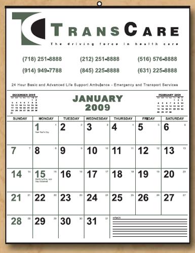 The Economy Line Wall Calendar