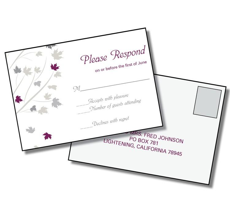 3.5x5 Wedding RSVP Postcard - FI #224