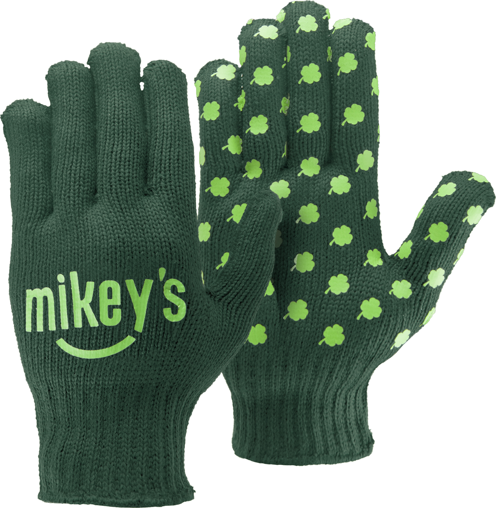 Green Knit Gloves w/Step & Repeat Imprint