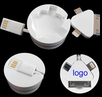 3 in 1 Retractable USB Cable