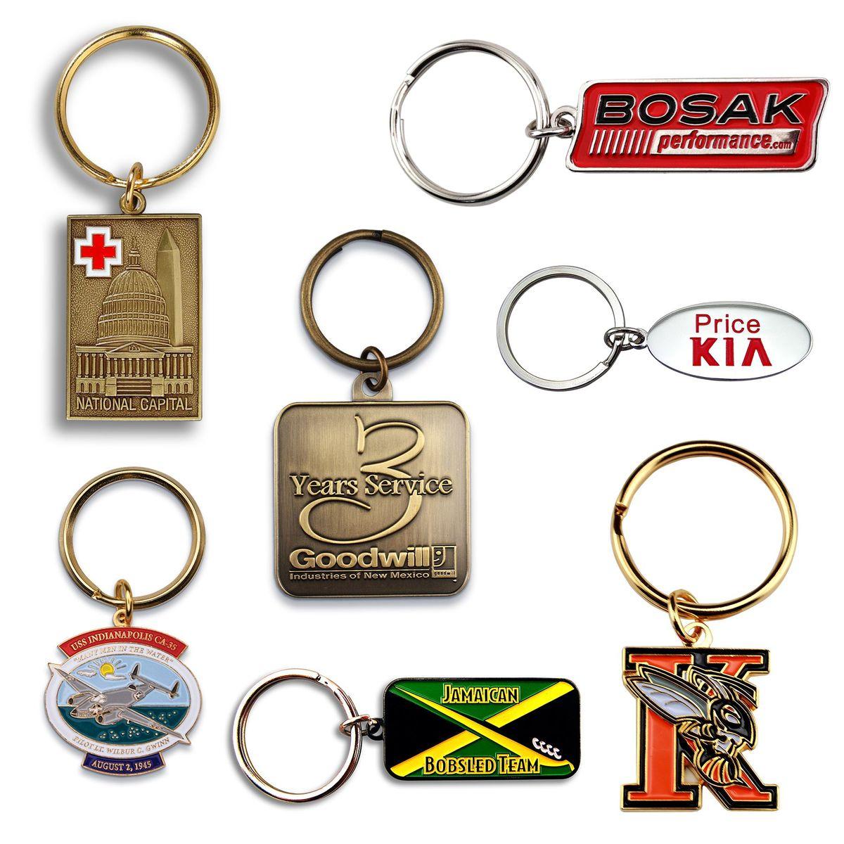 Custom Keychain Die Struck 1-1/4