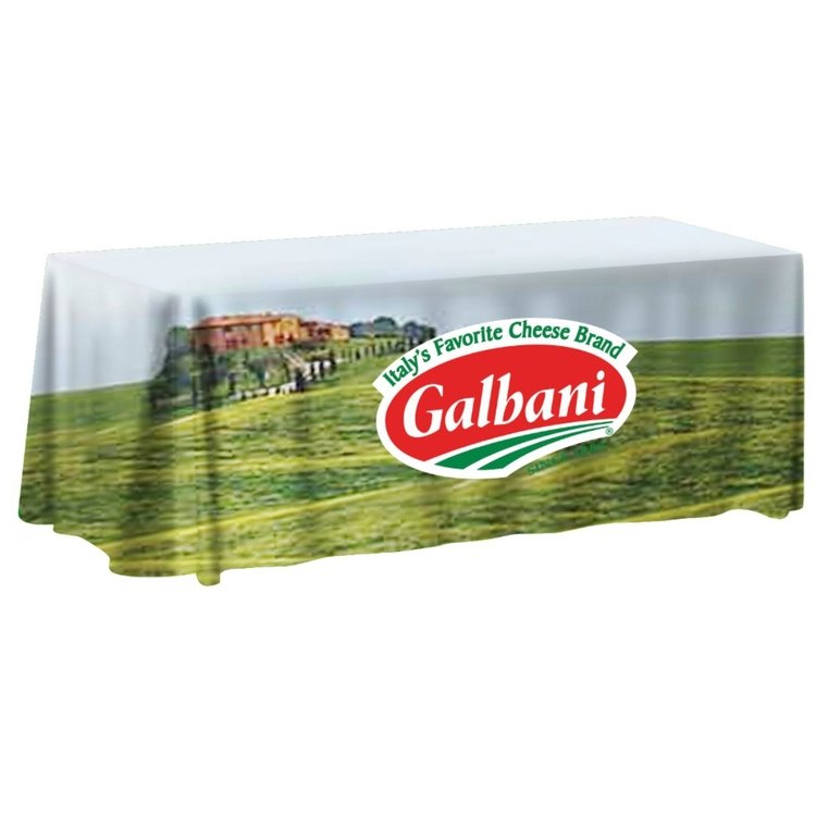 6 ft. Non-Fitted Table Cover Multi-Panel Print, Full Bleed or Custom Fabric Color - 6 ft. Non-Fitted Table Cover Multi-Panel Print, Full Bleed or Custom Fabric Color
