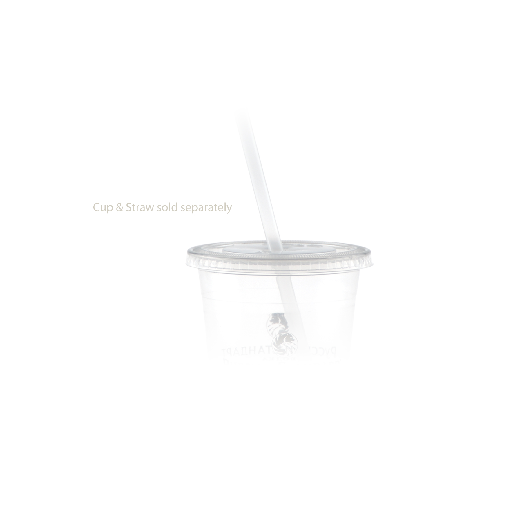 12/14 oz Soft Sided Cup Straw Slot Lid - Clear