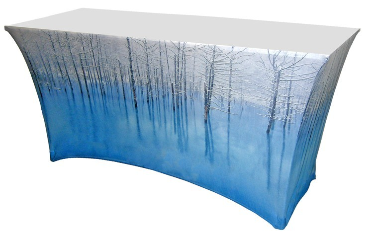 Full Color 4 Fitted Table Cover 36 H Counter Height Ultimate