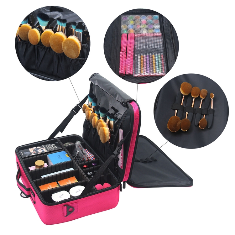 Portable Travel Makeup Bag Makeup Case Mini Makeup Train Case