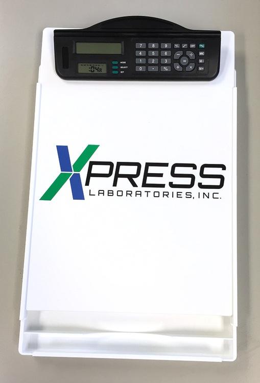 Letter Size Clipboard w/ Dual Power Calculator Plus Timer Clip