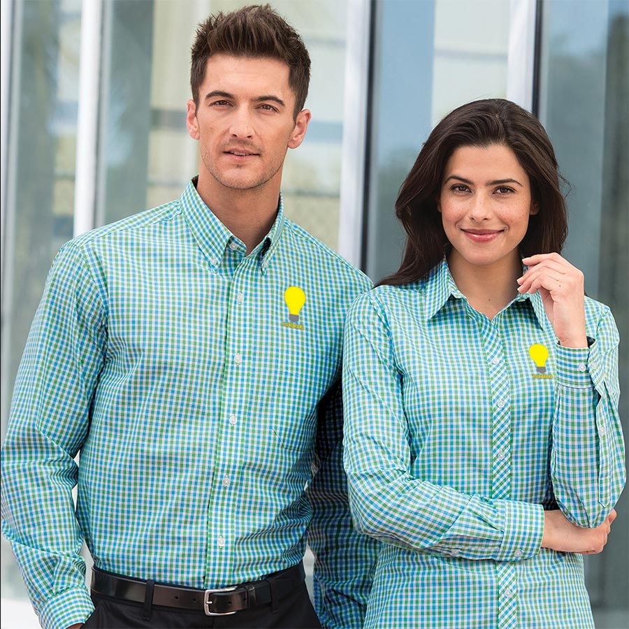 promotional gingham shirts