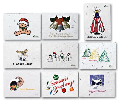 Seeded Paper Holiday Cards with personalization