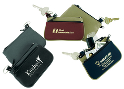 Zip Purse with Key Ring - The Twin Zip
