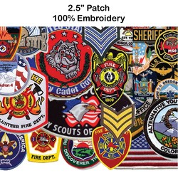 2.5 Embroidered Patch - 100% Embroidery