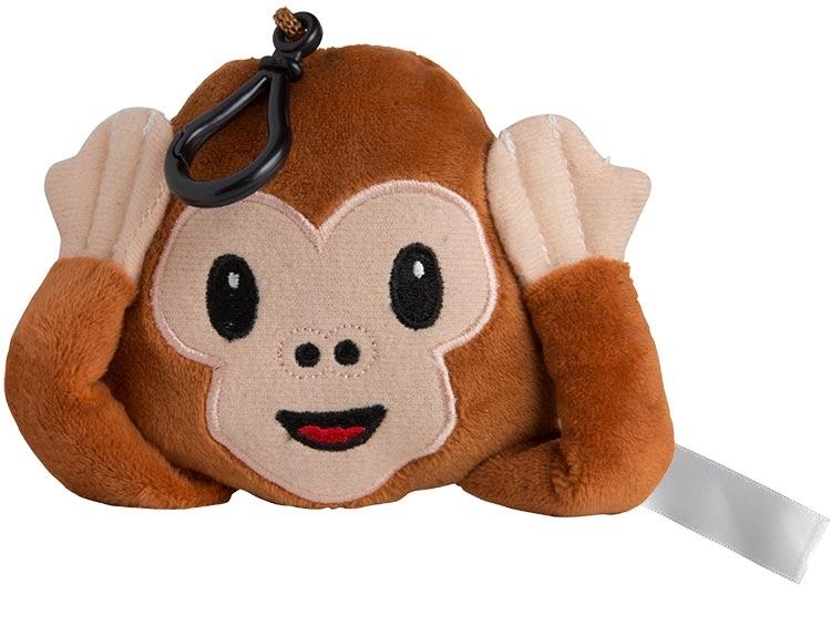 Wise Monkey Plush Keychain