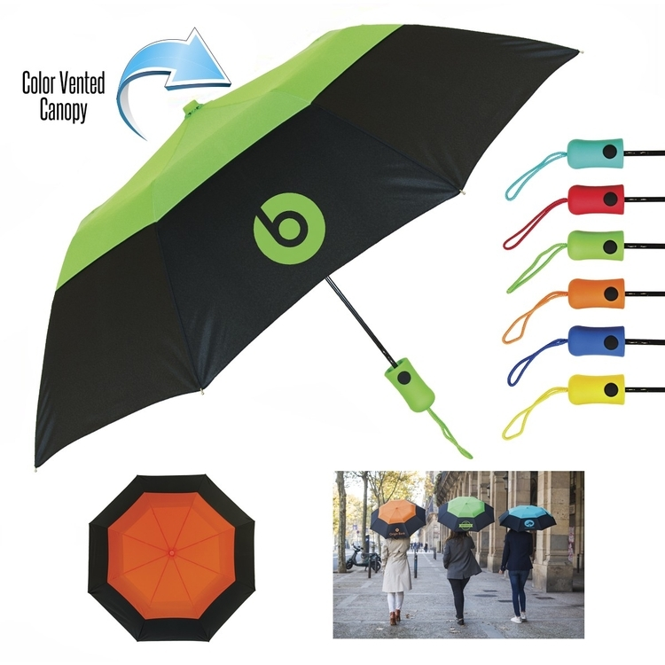 42 Inch Auto Open Vented Color Crown Umbrella SALE $8.99 Until March 31, 2018