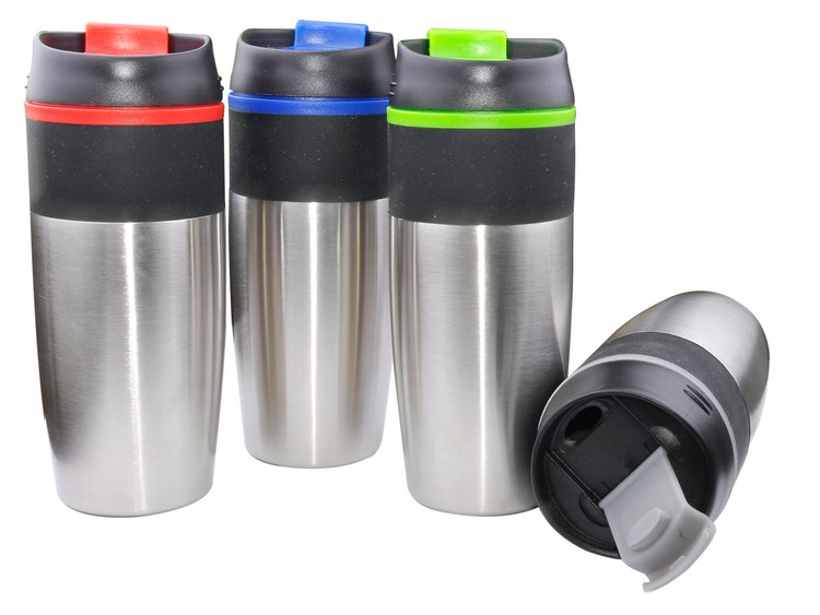 Stainless Steel Tumbler with Flip Top Lid - 15 oz
