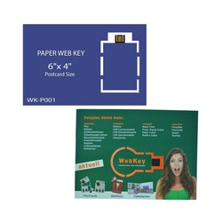 Paper Web Key 6x 4 Postcard