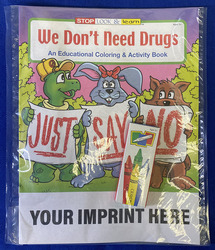 COLORING SET - We Don't Need Drugs Coloring Book Fun Pack - Coloring Book Fun Pack
