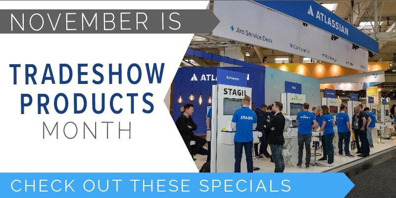 custom logo tradeshow exhibit expo promotion producgts giveaways discount sale