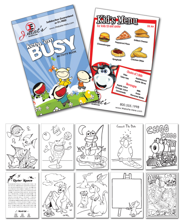Activity Coloring Book - 5.5x8.5 - (12-Page General Use)