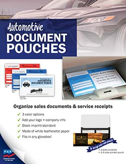 Automotive Document Pouch - Flyer from Warwick
