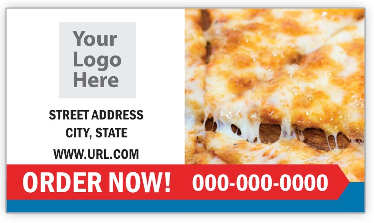 Cheese Pizza Business Card Magnet