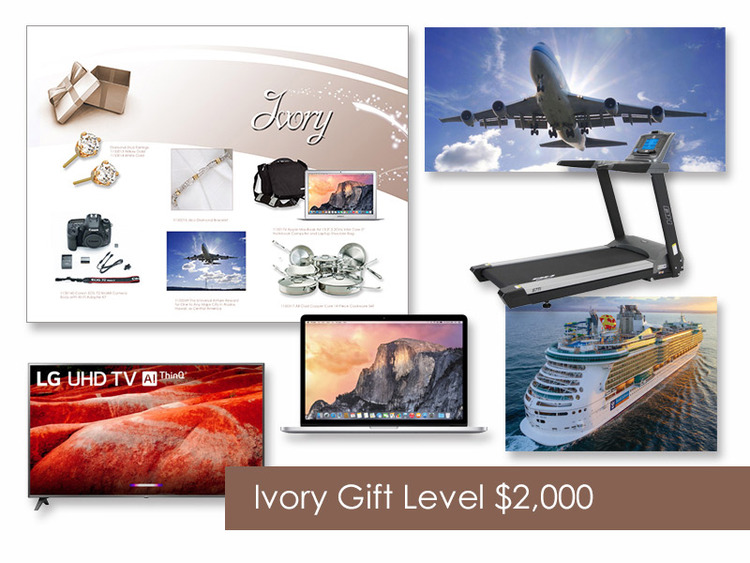 $2,000 Gift of Choice (Ivory Level) Gift Booklet
