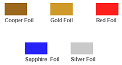foil color options