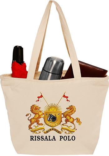 12 oz Getaway Cotton Tote Bag with Zipper