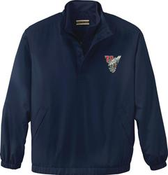 DOUBLE COLLAR NAVY COLOR GOLF WINDSHIRT