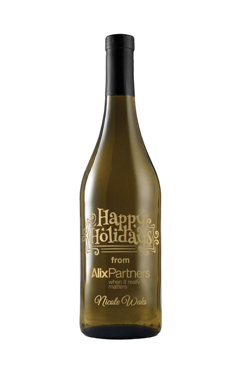Etched Chardonnay White Wine