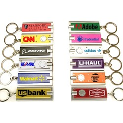 Rectangular Flashlight Key Chain