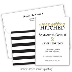 Wedding Invitation with Printed Envelopes Flat - 5x7 (A7)