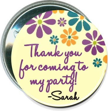 Thank you for coming to my party, Personalized Event Button