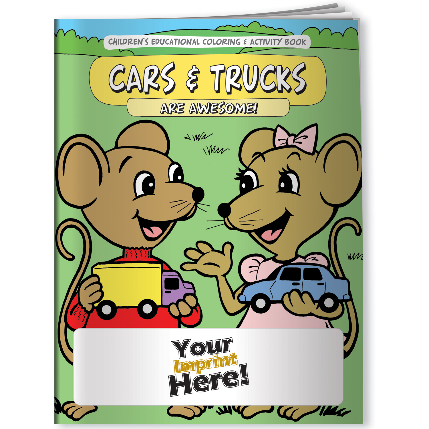 Children\'s Coloring Book - Cars and Trucks Are Awesome!