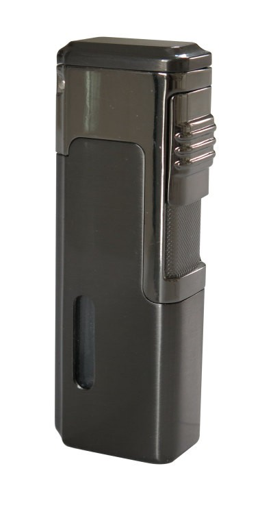 Tsunami Quad Torch Red Flame Lighter with Fold Out Cigar Punch Cutter