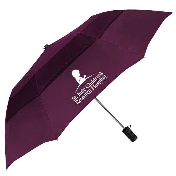 46 Inch Auto Open Vented Folding Umbrella SALE Until September 30, 2016