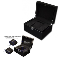 Piano Lacquer Black Finished Wood Watch Box